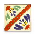 メキシコタイル柄 100角・セパレート花