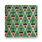 メキシコタイル柄 100角・ピーコック緑