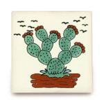 メキシコタイル柄 110角・サボテン