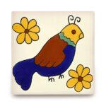 メキシコタイル柄 110角・鳥
