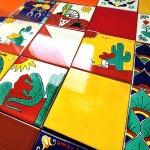 メキシコタイル100角・個性的な柄の組み合わせ