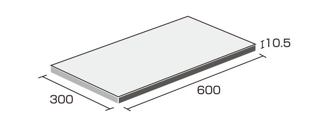 床タイル「ナチュラル(NAT)」形状図:300×600角
