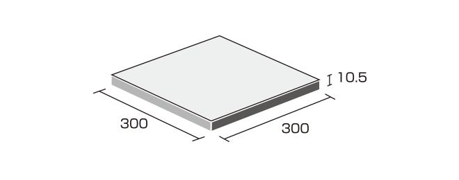 床タイル「ナチュラル(NAT)」形状図:300角