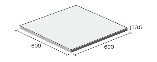 床タイル「ナチュラル(NAT)」形状図:600角