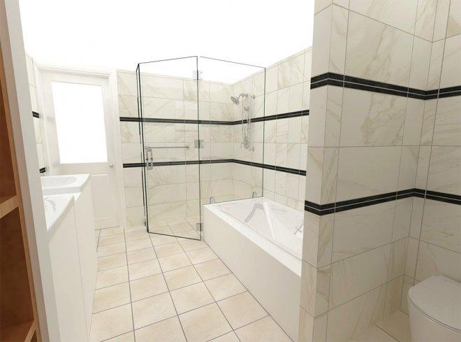 自由設計バスルーム:スイートプラン・デザイン例