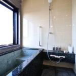 宿のお風呂のようなバスルーム