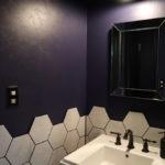 古き良きアメリカンデザインの洗面スペース