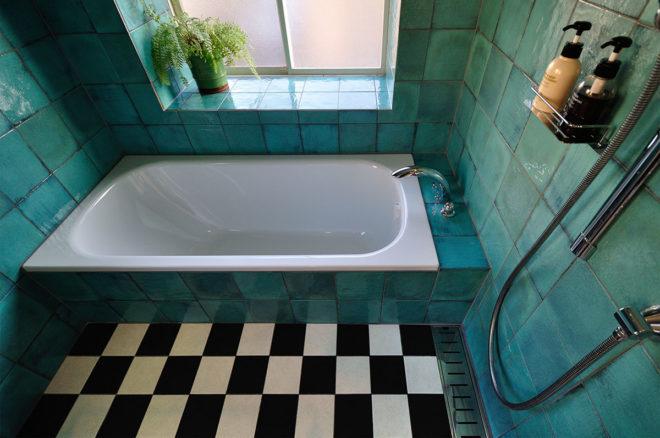 海外のようなバスルーム空間