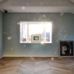 フレンチへリーンボーン貼りの床暖房フローリング