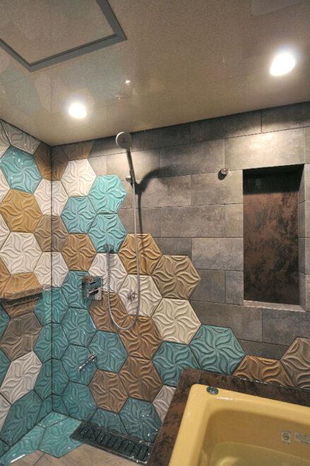 マンションバスルームのリノベーション(wedi自由設計)