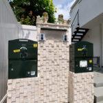 戸建用 宅配ボックス「ブライズボックス」口コミ/2世帯住宅 ダークグリーン(BS-DG):据え置き施工