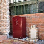 戸建用 宅配ボックス「ブライズボックス」Ex-Large ボルドー(BE-BO):据え置き施工