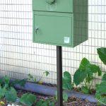 戸建用 宅配ボックス「ブライズボックス」海外事例 Standard グリーン(BS-G):ポール施工