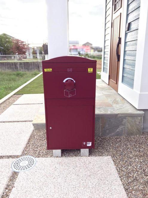 K様邸/宅配ボックス Brizebox Ex-Large ボルドー:据え置き施工