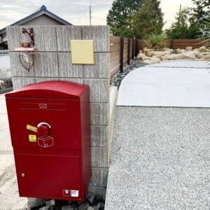 宅配ボックス Brizebox Large ボルドー:ポール施工