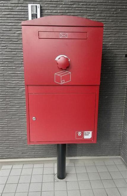 お洒落な宅配ボックス Brizebox Large ボルドー