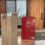 宅配ボックス「ブライズボックス」口コミ/ラージ(BL-BO):レンガ据置台座施工