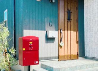 N様邸/宅配ボックス Brizebox Large ボルドー:ポール施工を更新