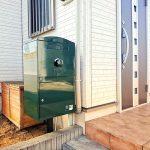 戸建用 宅配ボックス「ブライズボックス」口コミ/ダークグリーン(BL-DG):ポール施工