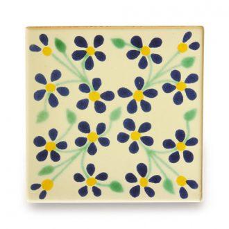メキシコタイル柄 100角・小花柄