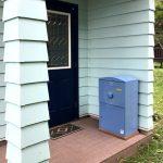 宅配ボックス「ブライズボックス」Large ブルー(BL-B):据え置き施工