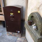宅配ボックス「ブライズボックス」Large ショコラ(BL-CH):据え置き施工