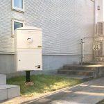 宅配ボックス「ブライズボックス」Large アイボリー(BL-Iv):ポール施工